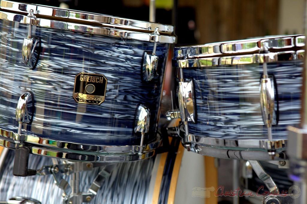 """""""Fûts de batterie Gretsch Renown"""" Alex Golino & David Blenkhorn Quartet, Festival JAZZ360 2012, château Roquebrune, Cénac, samedi 9 juin 2012"""