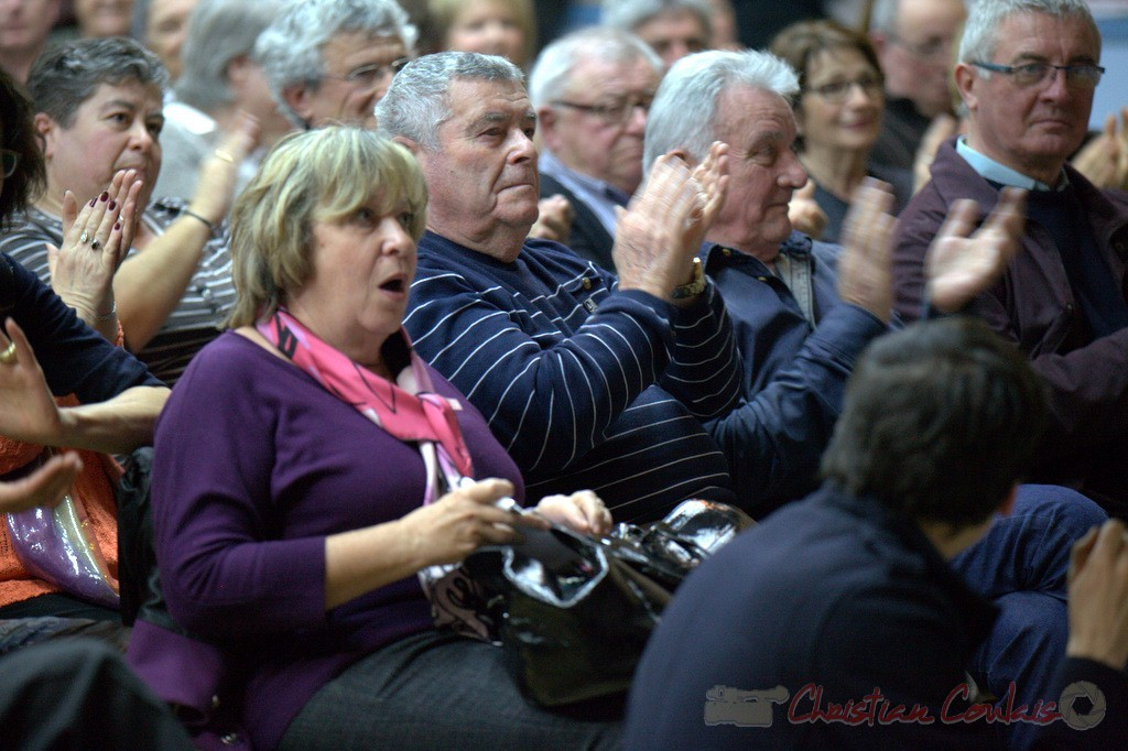 """Françoise Cartron. Meeting """"Majorité départementale"""" aux élections départementales de la Gironde, Blasimon, 9 mars 2015"""