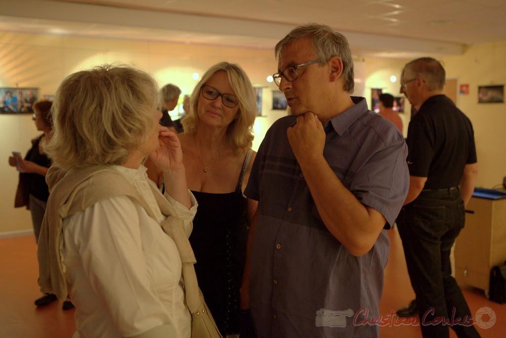 Marie et Richard Raducanu. Vernissage de la Rétrospective photographique 2010-2014. Festival JAZZ360 2015, médiathèque de Latresne. 28/05/2015