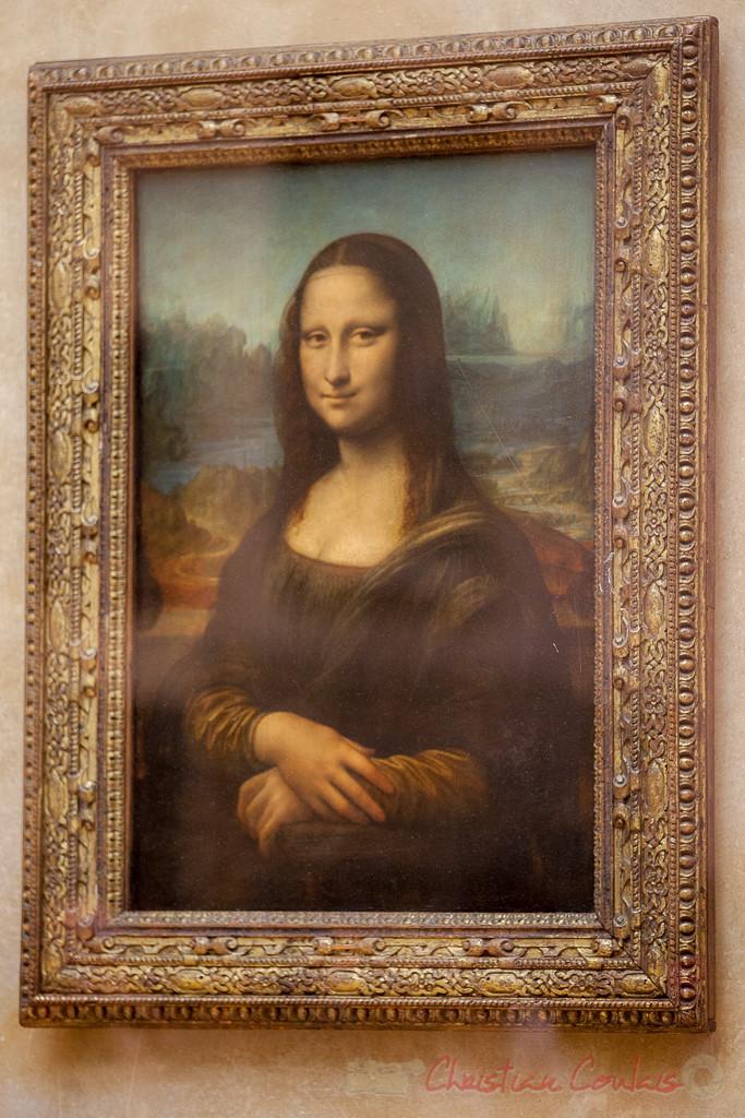 Lisa Gherardini, épouse de Francesco del Giocondo, dite Monna Lisa, la Gioconda ou la Joconde, Leonardo di ser Piero Da Vinci, dit Léonard de Vinci