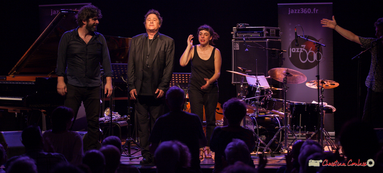 "Standing ovation for Louis Sclavis Quartet ""Characters on a wall"". Festival JAZZ360 2018, Cénac. Vendredi 8 juin 2018"
