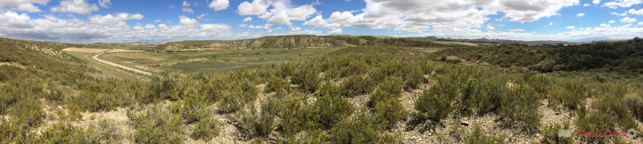 Entre Cabezo de Castildetierra et la Finca Los Aguilares. Parque natural de las Bardenas Reales, Navarra