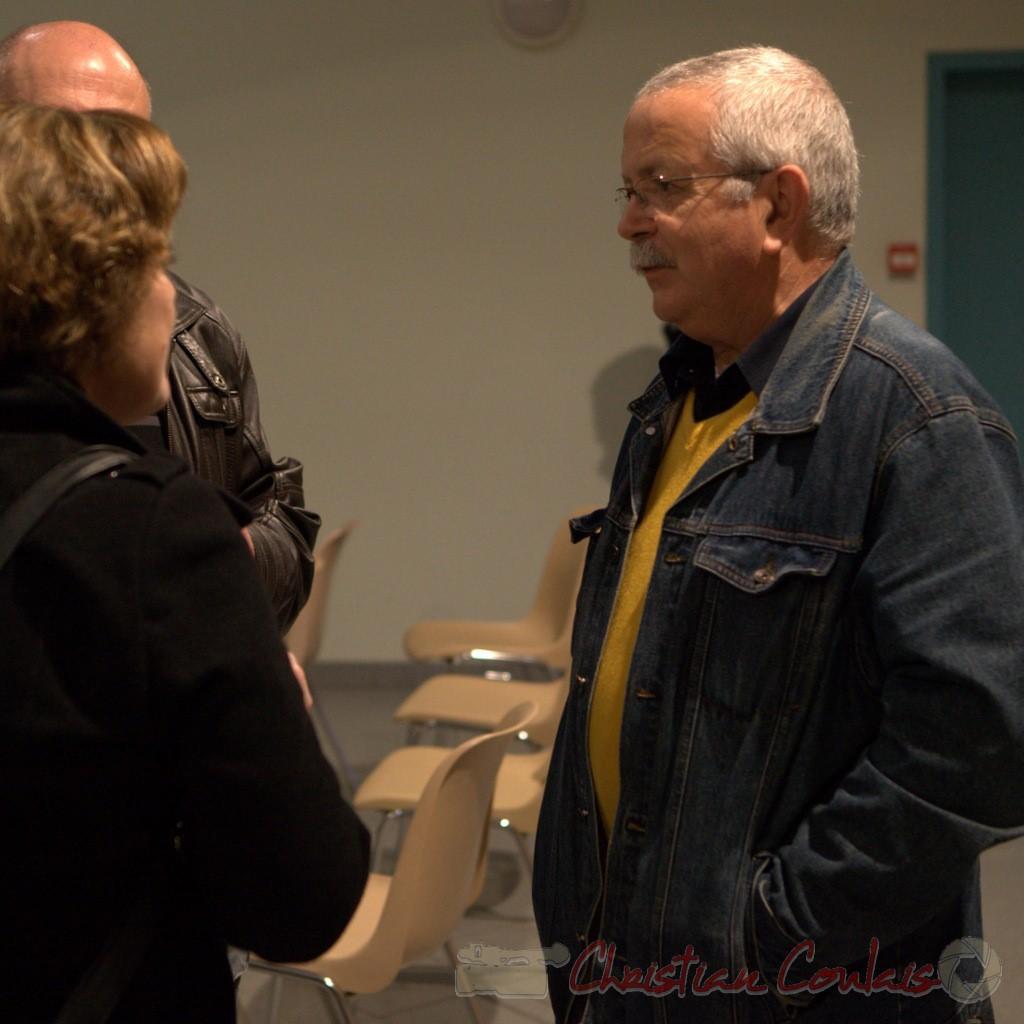 Michel Bataille, ancien élu. Vin d'honneur pour l'honorariat de Simone Ferrer et Gérard Pointet, anciens Maires de Cénac, vendredi 3 avril 2015