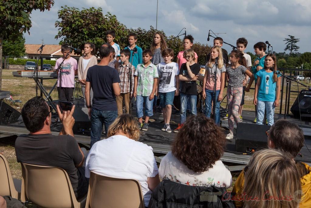 Chorale Jazz de l'école de Le Tourne. Festival JAZZ360 2015, Cénac
