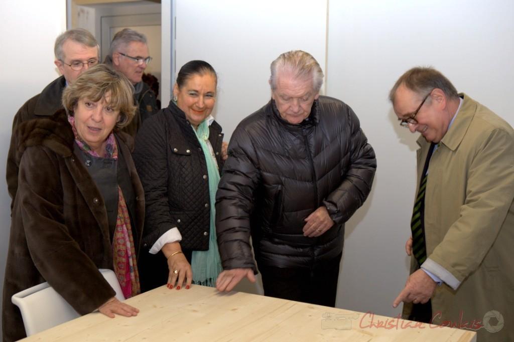 9 juin 2012. Françoise Cartron, Jean-Marie Darmian, Martine Faure, Philippe Madrelle, Bernard Cuartero, Maire de Cambes
