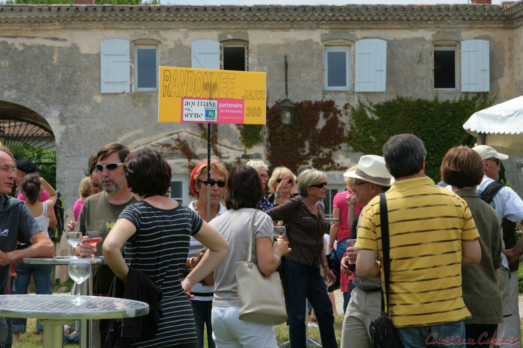 """Festival JAZZ360 2011, on y vient même en """"rando"""" au Château Lestange à Quinsac"""