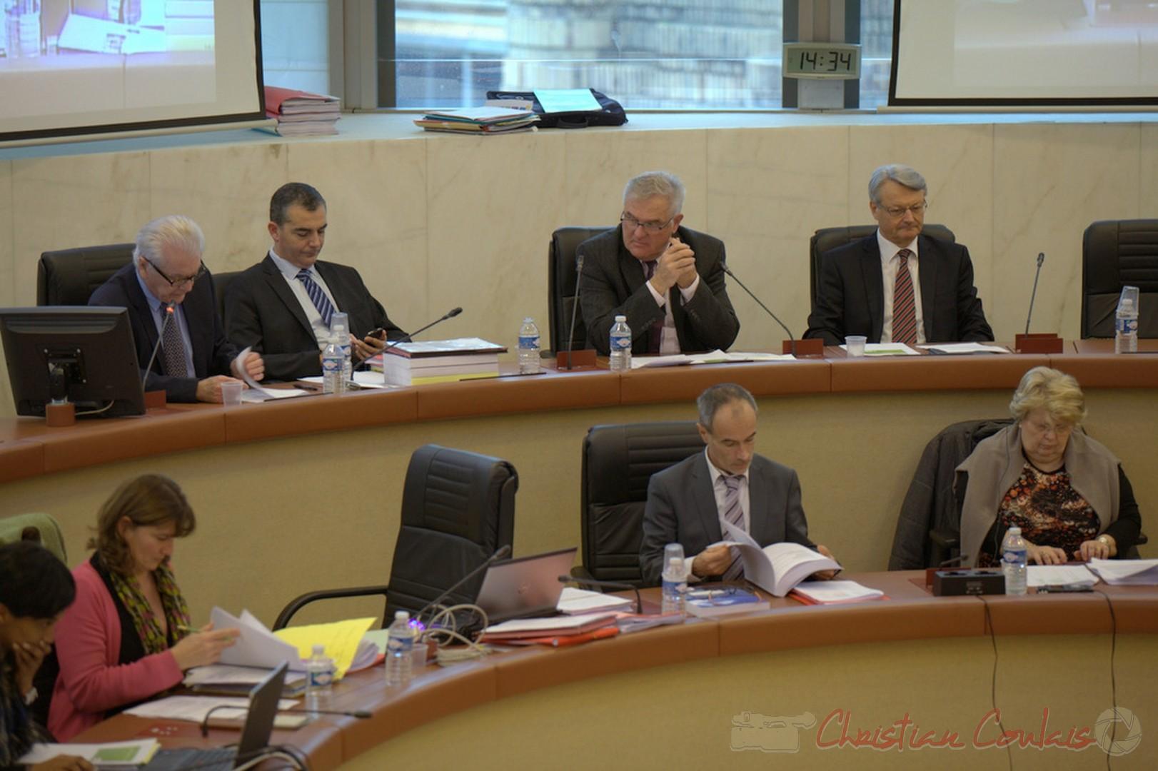 19 décembre 2014, vote du budget primitif 2015 du Conseil général, futur conseil départemental de la Gironde. Hôtel du département.