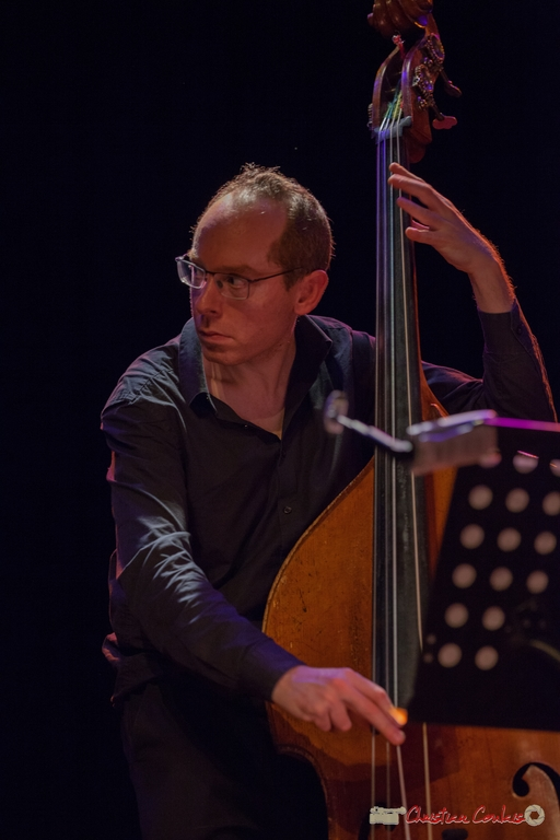 "11/06/2016. Yoni Zelnick, contrebasse, Géraldine Laurent ""At work"" Quartet. Festival JAZZ360"