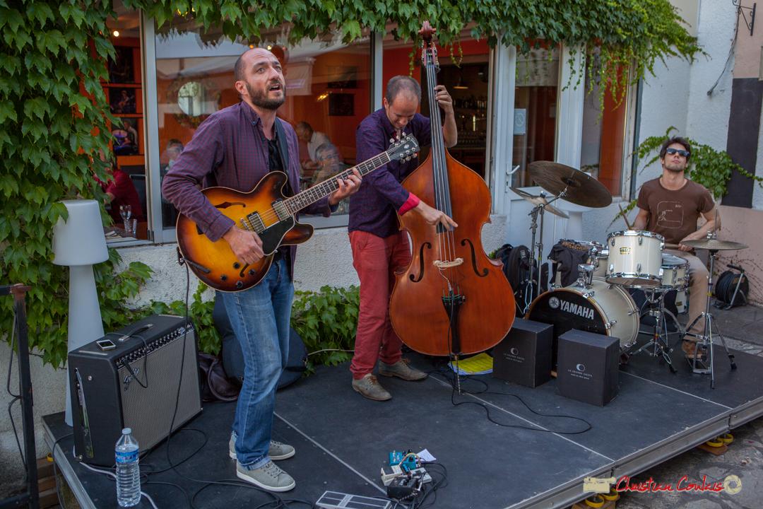 Thomas Saint-Laurent, Thomas Julienne, Tom Peyron; TSL Trio, Festival JAZZ360, restaurant les Acacias, Cénac, 10 juin 2017
