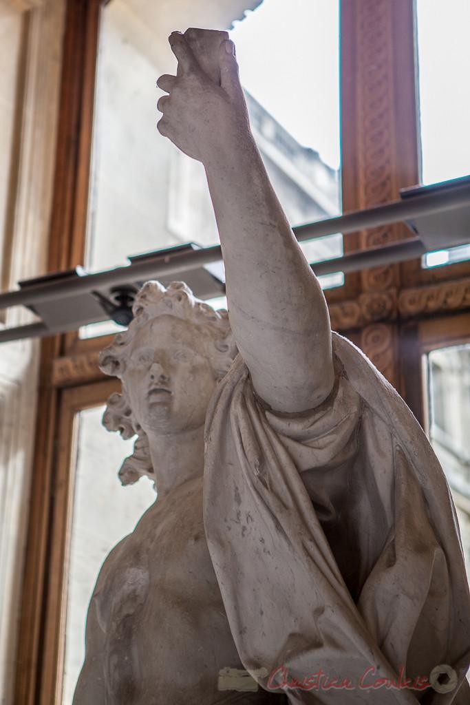 Apollon vainqueur du serpent Python, Italie, Galerie Michel-Ange, Musée du Louvre