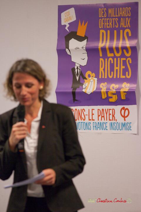 2/6 Marie Duret-Pujol, candidate aux élections européennes 2019. Comité d'appui la France insoumise aux élections européennes, Bordeaux. 22/11/2018