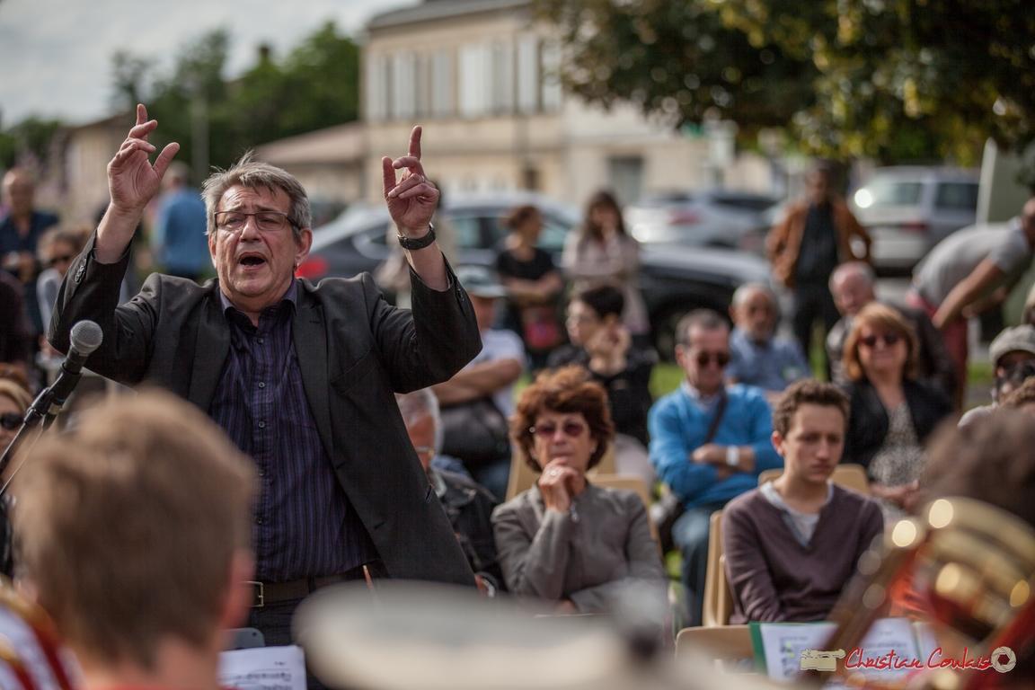 11/06/2016. Franck Dijeau dirige le Big Band de l'Ecole municipale de Musique de Cenon, Cénac. Festival JAZZ360