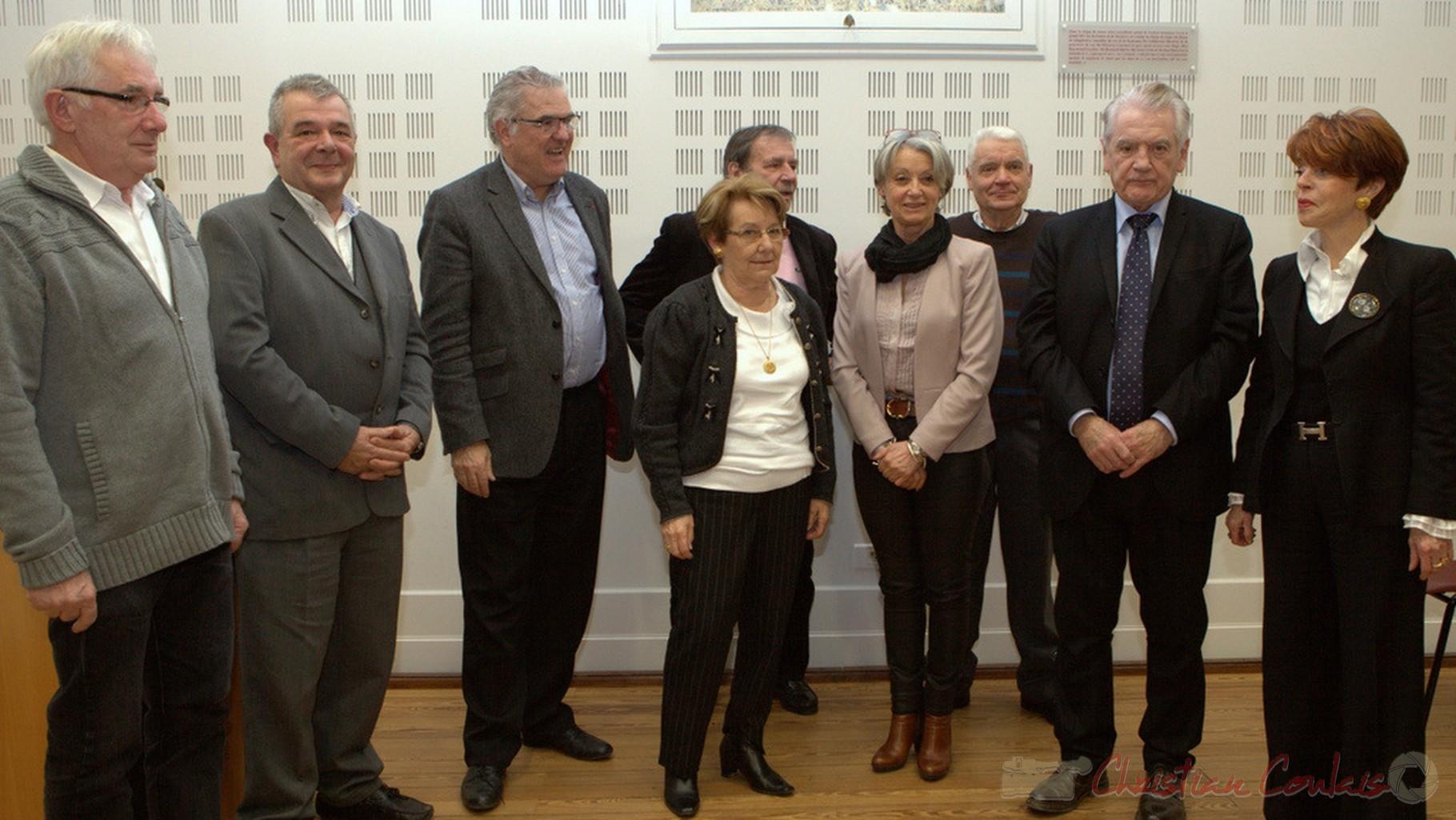Dernière Assemblée générale de l'Association des Maires du canton de Créon de cette mandature. 7 février 2014, Créon