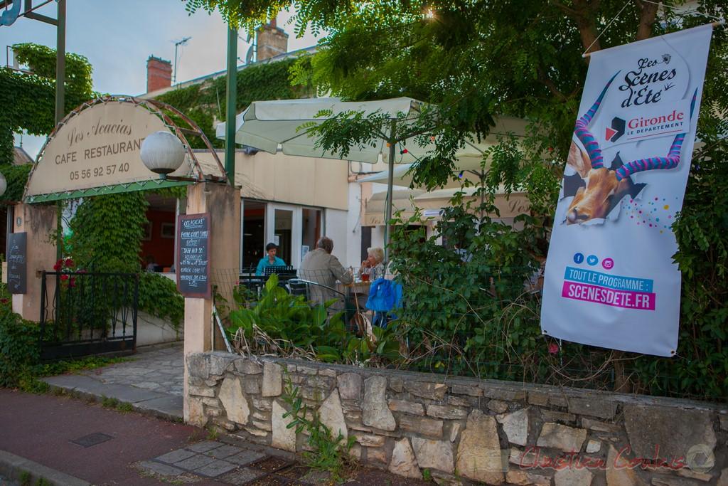 Restaurant les Acacias, souper Jazz avec Phil Gueguen. Festival JAZZ360 2015, Cénac