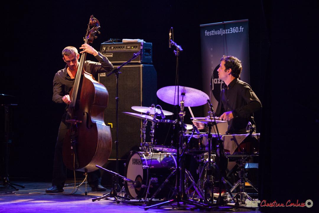 Maxime Delporte, Frédéric Petitprez. Rémi Panossian RP3 Trio, Festival JAZZ360, Cénac 9 juin 2017