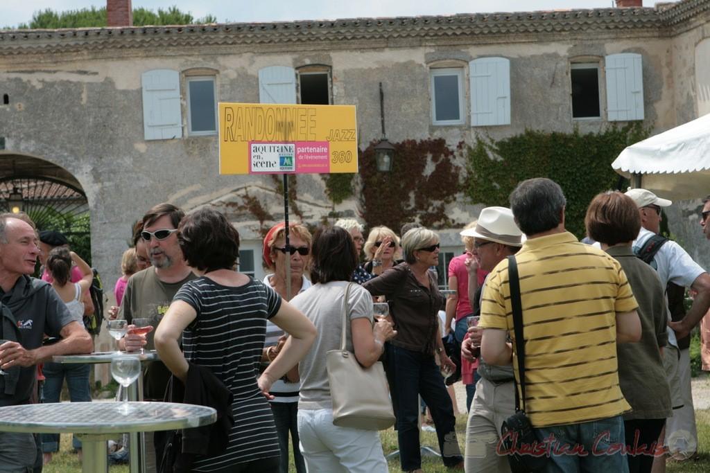 RDV des randonneurs, Château Lestange, Festival JAZZ360 2011, Quinsac. 05/06/2011