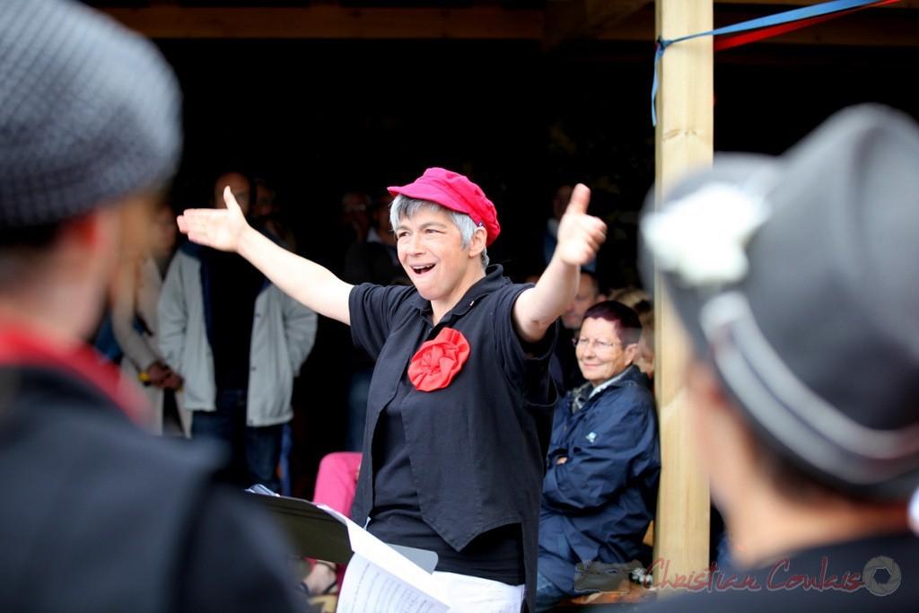 Nathalie Aubin, cheffe de cœur, Les Choraleurs, Festival JAZZ360 2013, Quinsac. 08/06/2013