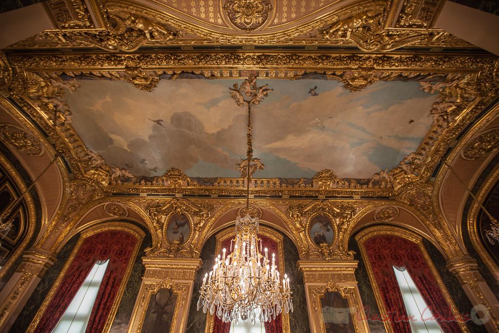 Ciel avec oiseaux, Eugène Appert, Plafonds de la Grande salle à manger, Appartements de Napoléon III, Musée du Louvre