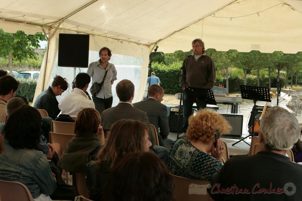 Richard raducanu présente l'INSTITUT RÉGIONAL D'EXPRESSIONS MUSICALES. Festival JAZZ360 2011, Cénac, 04/06/2011