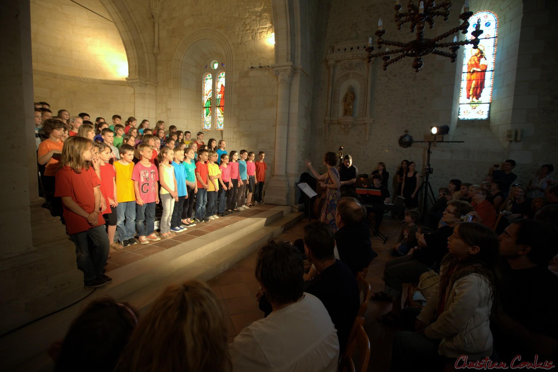 Festival JAZZ360 2012, Chorale Jazz, écoles de la C.D.C. des Portes de l'Entre-Deux-Mers, Cénac