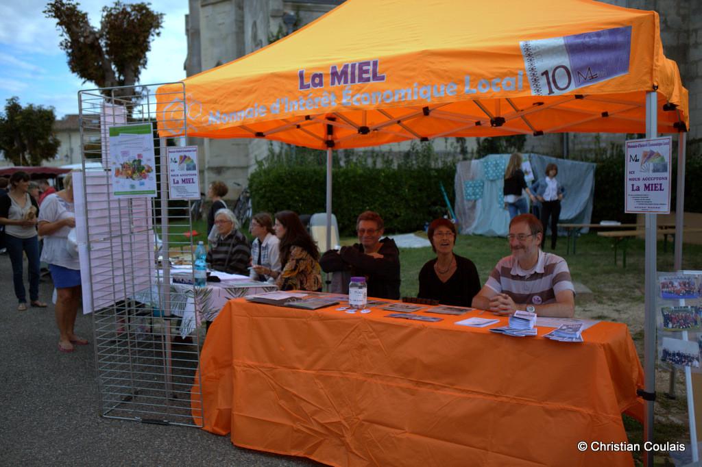 Association pour le développment de la Monnaie d'Intérêt Local (MEL), forum des Associations de Quinsac