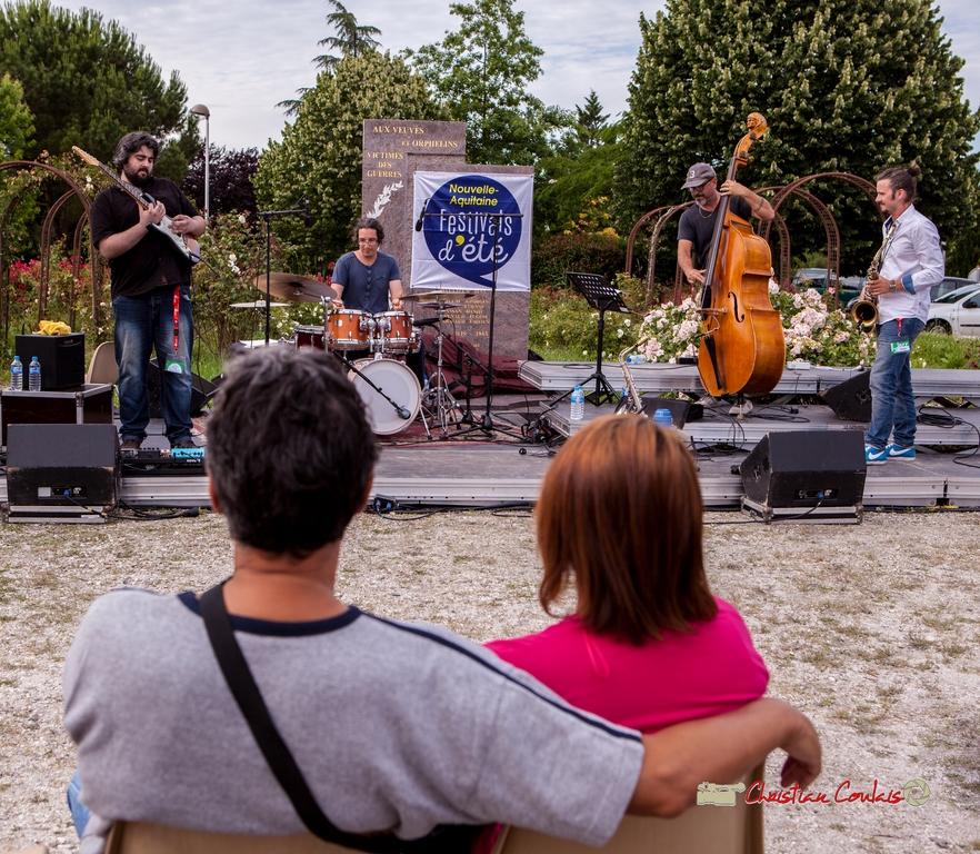 Docteur Nietzsche Quartet : Jean-François Valade, David Muris, François Mary, Valentin Foulon-Balsamo. Festival JAZZ360 2018, Cénac. 08/06/2018