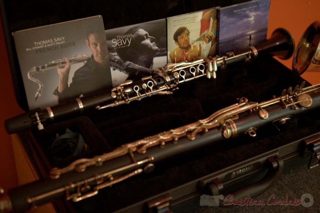 Clarinette et clarinette basse de Francis Henry. Festival JAZZ360 2015, médiathèque de Latresne. 28/05/2015