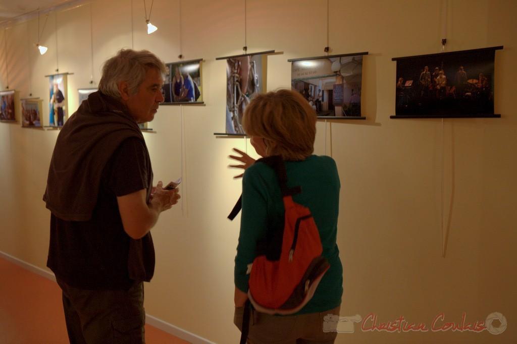 Vernissage de la Rétrospective photographique 2010-2014. Festival JAZZ360 2015, médiathèque de Latresne. 28/05/2015