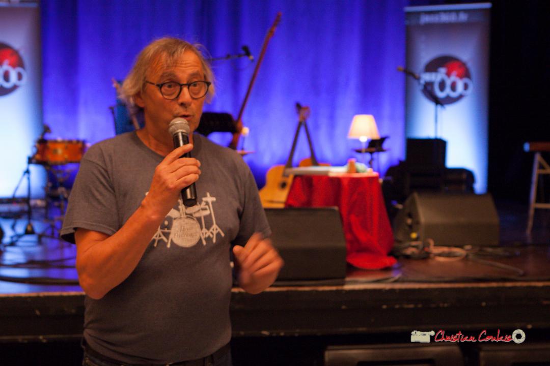 Richard Raducanu présente la soirée club JAZZ360 et le concert de The Rix'tet, Cénac. 05/10/2019