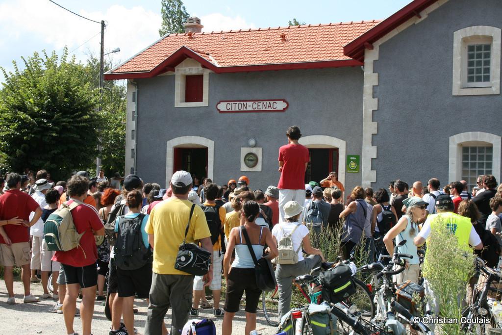 Halte musicale en gare de Citon-Cénac (gîte intercommunla), Ouvre la voie, Festival cyclo-musical, Piste cyclable Roger Lapébie, Cénac, Gironde