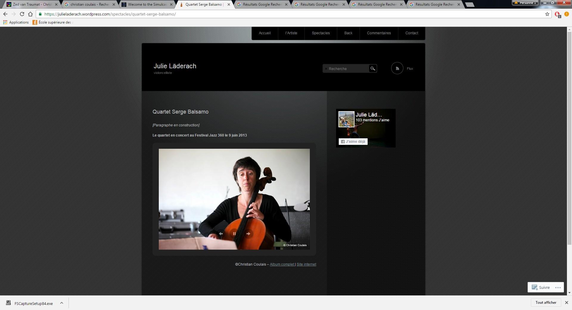 Site de Julie Ladreäch, 9 juin 2003