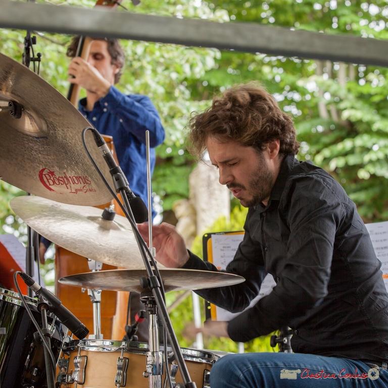 11/06/2016. Matthieu Chazarenc, batterie, Éric Séva Quartet. Festival JAZZ360