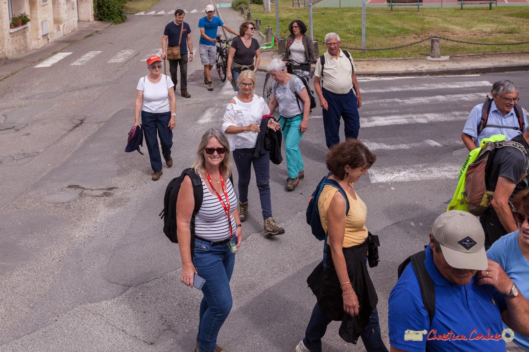 Arrivée de la randonnée pédestre du Festival JAZZ360, de Cénac à Quinsac. 10/06/2018