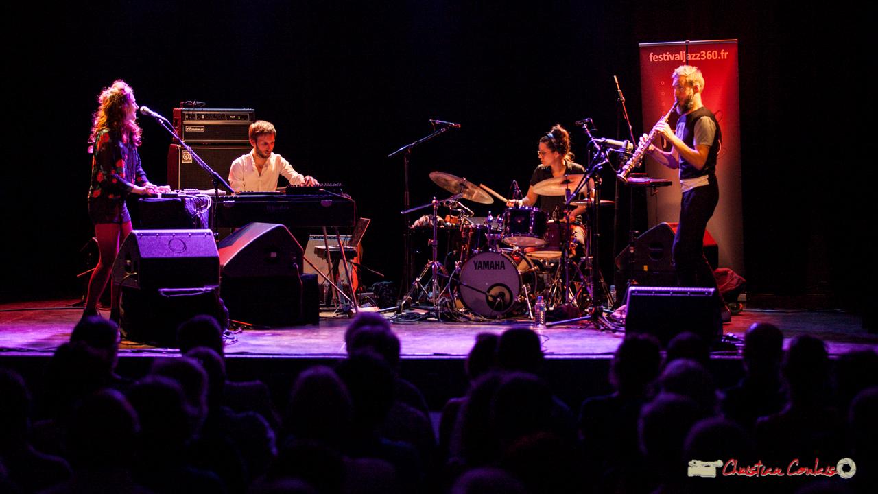 Leïla Martial, Tony Paeleman, Anne Paceo, Christophe Panzani; Anne Paceo Circles. Festival JAZZ360, Cénac, 10 juin 2017