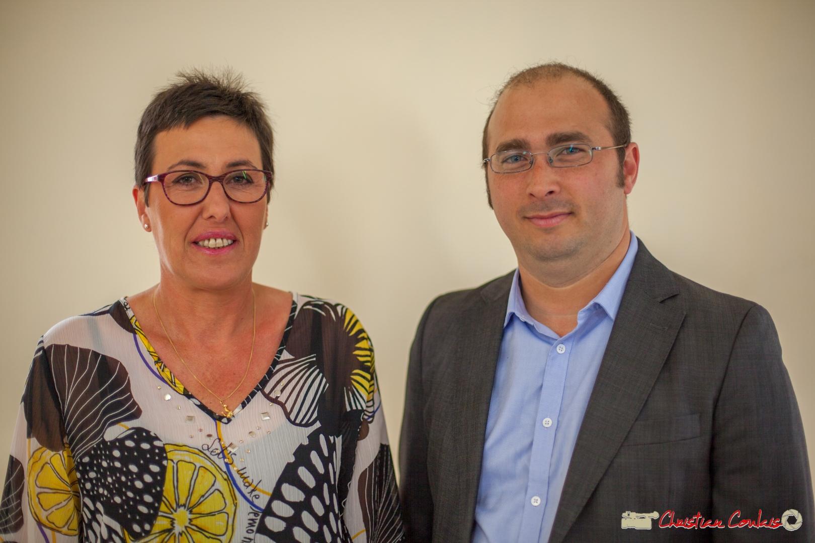 Nathalie Chollon-Dulong, suppléante, Christophe Miqueu, candidat aux élections législatives 2017, 12ème circonscription de la Gironde