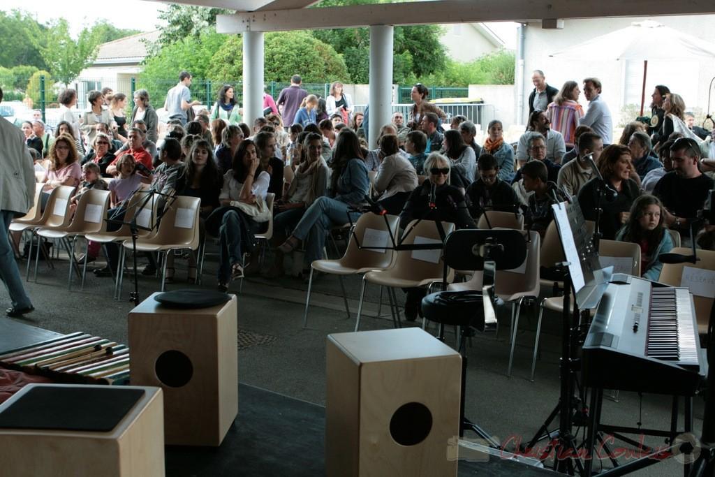 Classes de CM1-CM2 de Sadirac, Lorient, Festival JAZZ360, groupe scolaire de Cénac. 01/06/2011