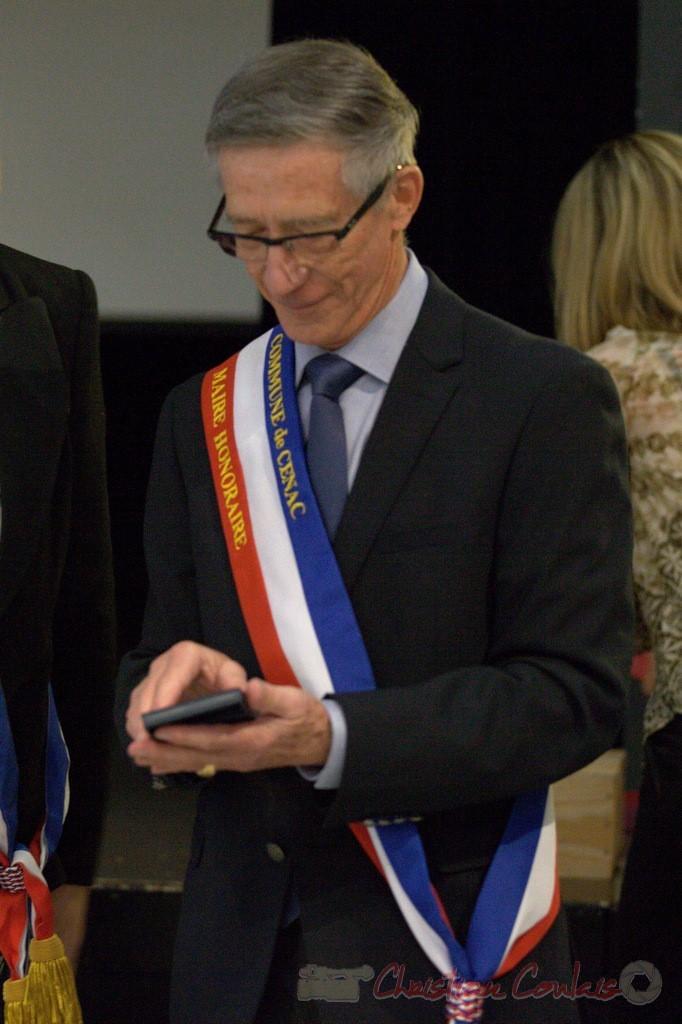 Gérard Pointet, Maire honoraire de Cénac, vendredi 3 avril 2015, Cénac