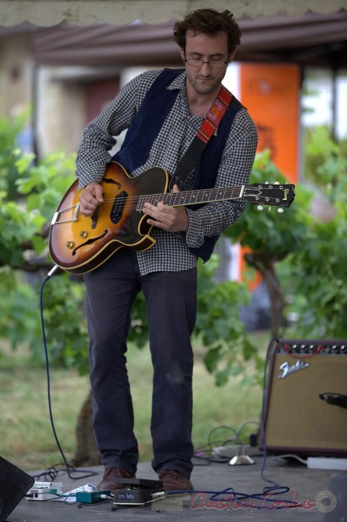 Festival JAZZ360 2015, Charlie Dufau; Electro Boots. Château Lestange, Quinsac. 14/06/2015