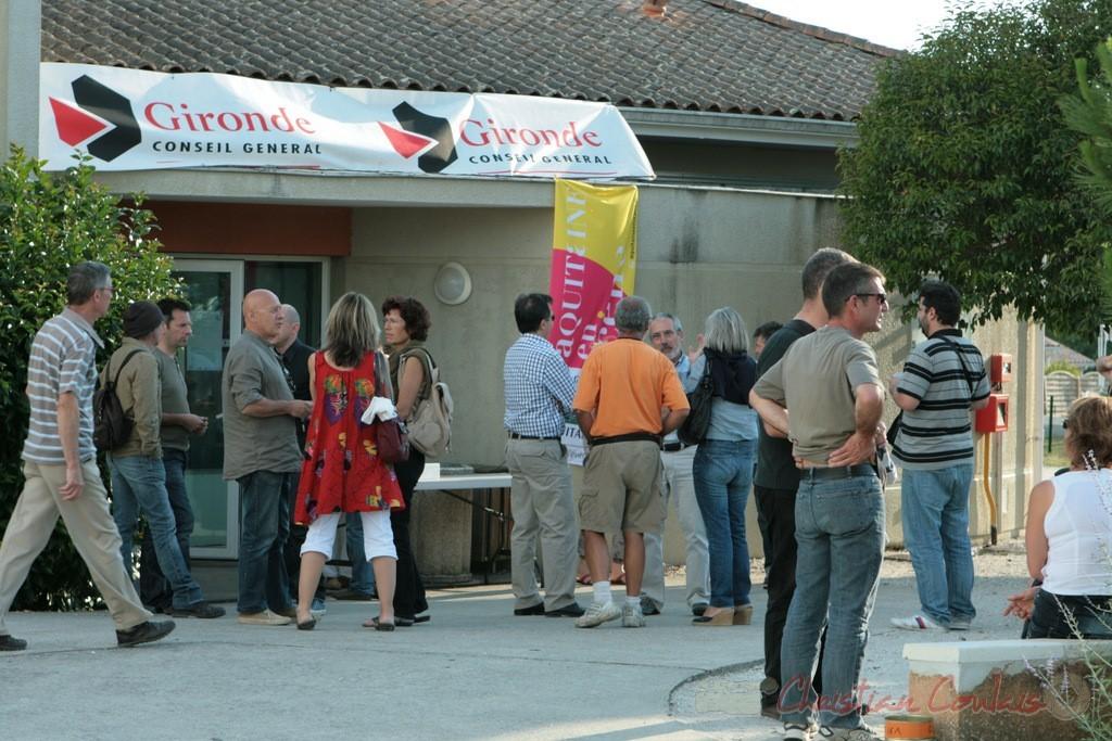 Peu avant le concert de clôture du FFB (Fédération Française du Baryton), Festival JAZZ360. Cénac. 05/06/2011