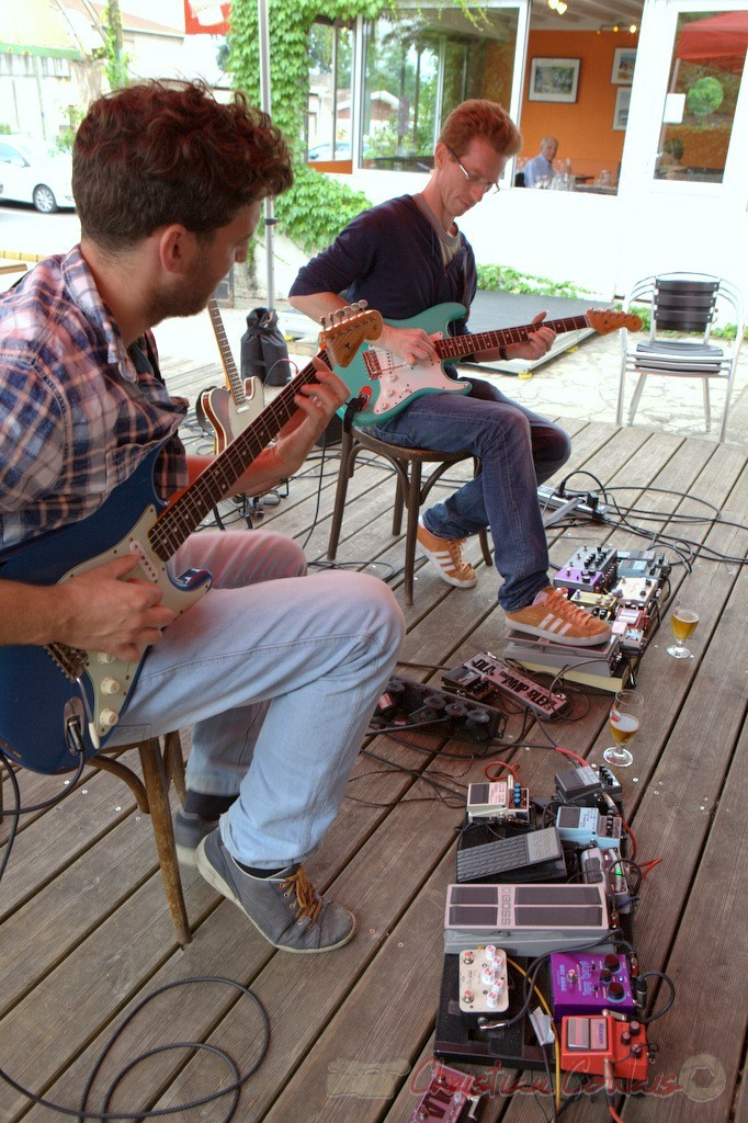 Festival JAZZ360 2015, Pierre Génin, Christophe Maroye; Jazz in Box, restaurant Les Acacias, Cénac. 13 juin 2015