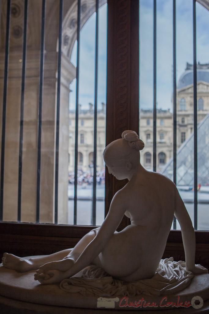 La Nymphe au scorpion, Lorenzo Bartolini, Galerie Michel-Ange, Musée du Louvre