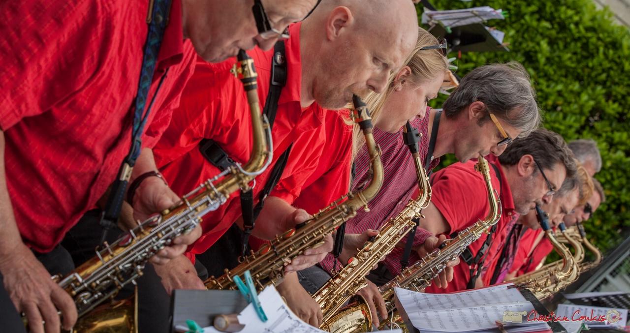11/06/2016. Big Band de l'Ecole municipale de Musique de Cenon, Cénac. Festival JAZZ360