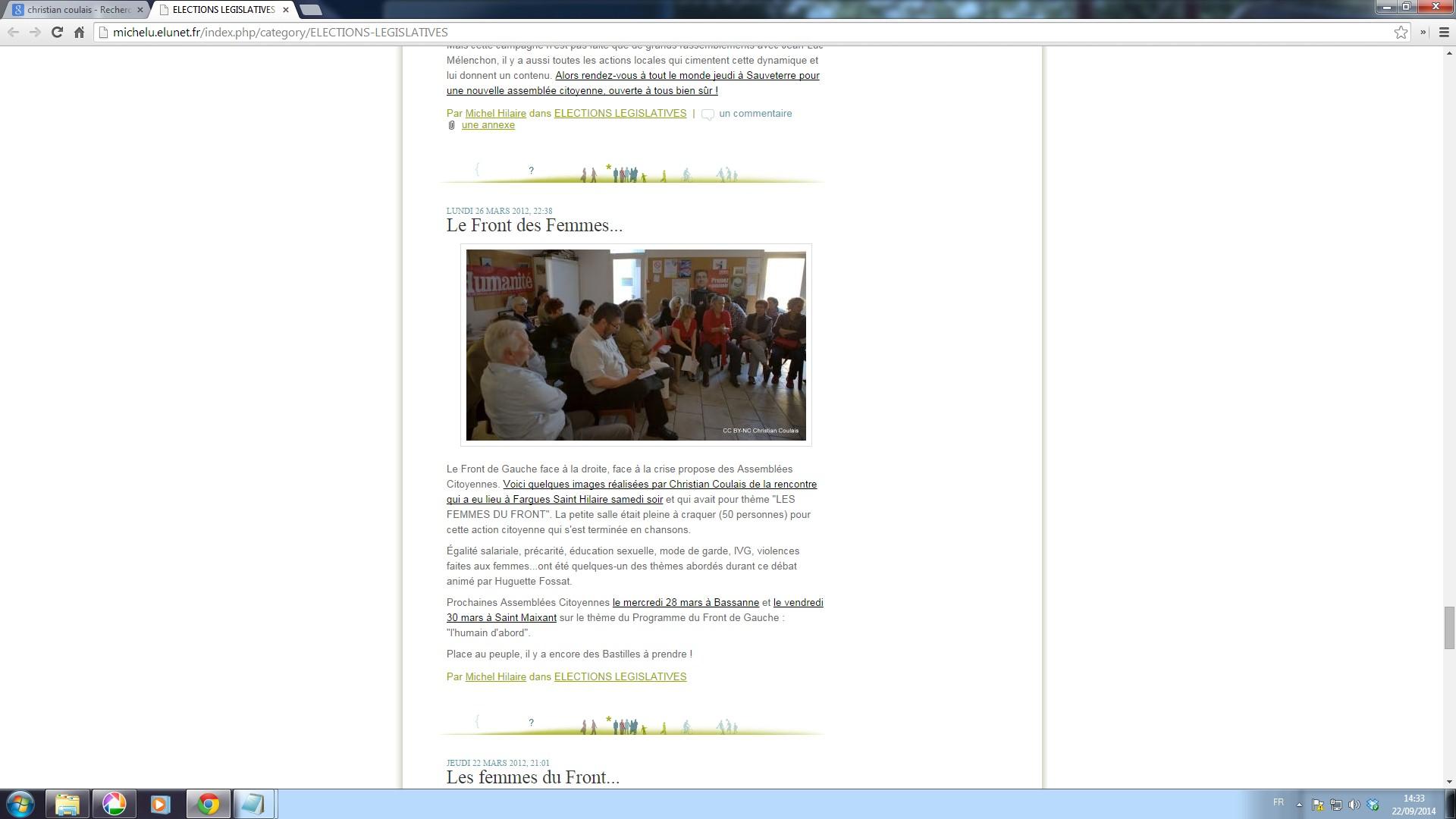 Blog de Michel Hilaire, 26 mars 2012