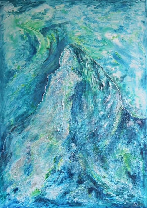Matterhorn blau 50x70cm