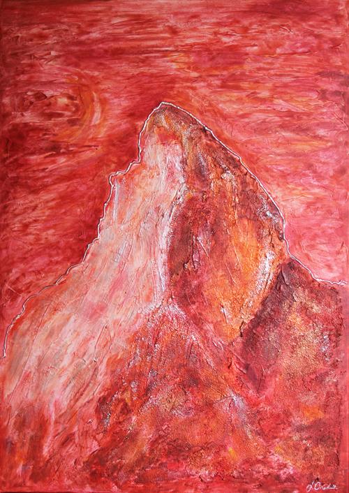 Matterhorn rot 50x70cm