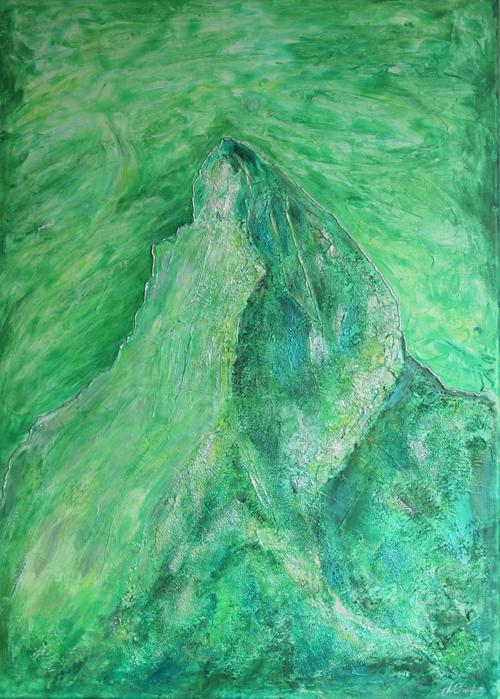 Matterhorn grün 50x70cm