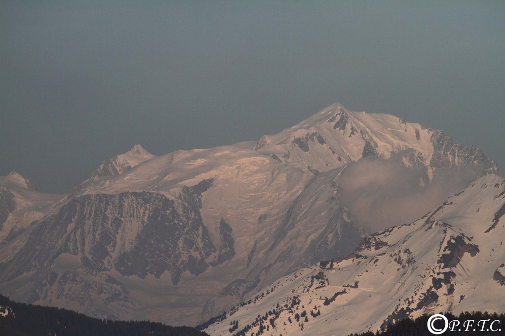 Le mont Blanc depuis le mont Baron