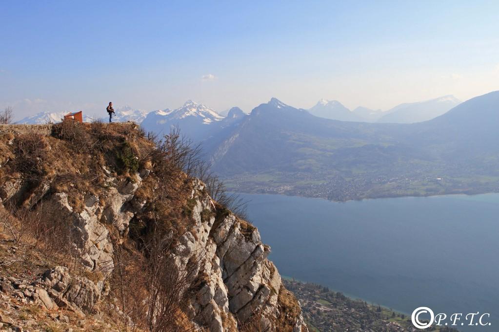 Lac d'Annecy depuis le mont Baron