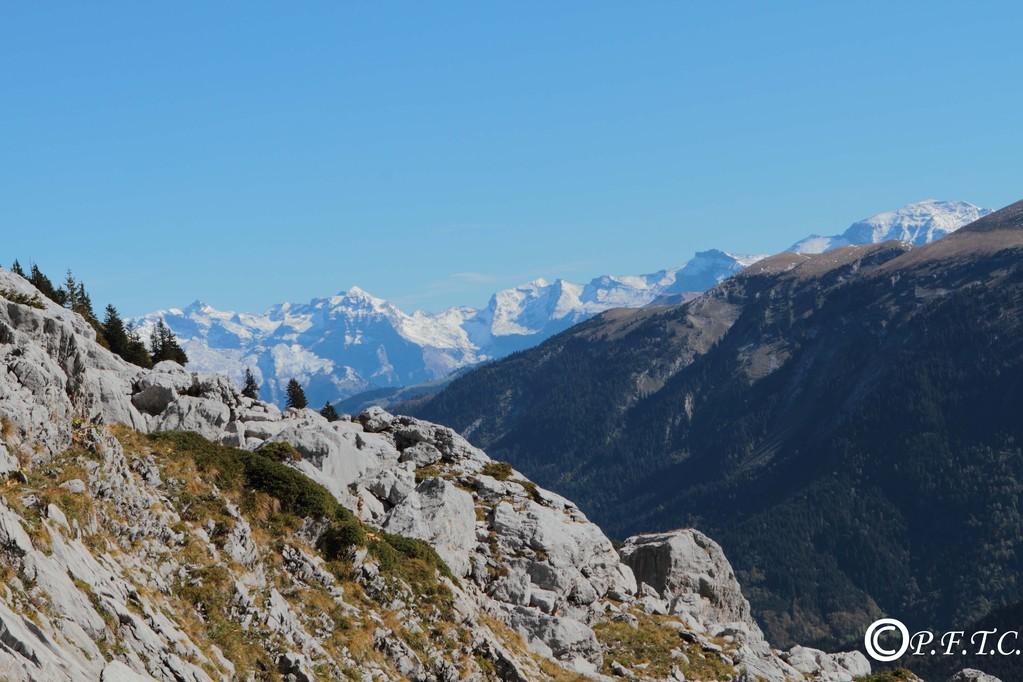 Vue depuis le lac de Peyre