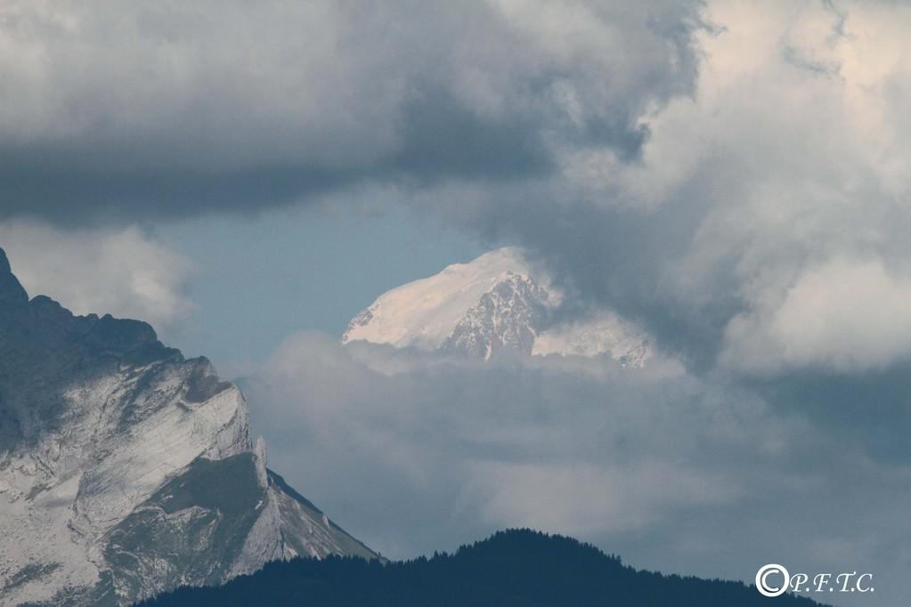 Mont Blanc vu du Mont Baron